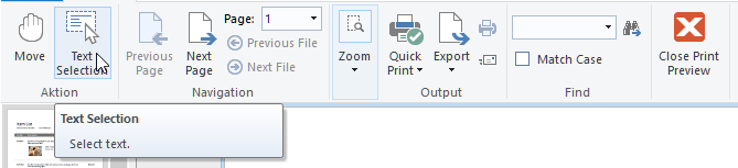 Text Selection and Copy to Clipboard for the Preview
